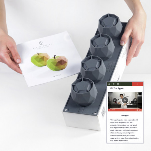SET Apples small cakes Mold + Video-class