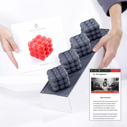 SET Spheres small cakes  Mold + Video-class