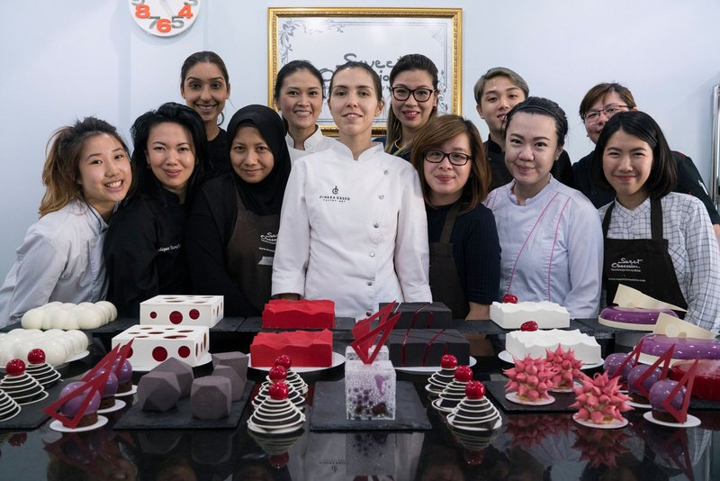 Class in Sweet Obsession culinary school, Bangkok